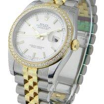 Rolex Unworn 116243 Mens 2-Tone Datejust with Diamond Bezel -...