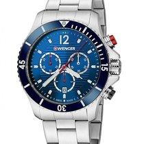 Wenger Sea Force Mens Dive Chronograph - Blue Dial - Bracelet...
