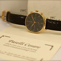 IWC Portoghese Cronografo Automatico Ref. 371402 in Oro Rosa