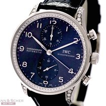 IWC Portugieser Chronograph 18k White Gold Ref-IW371439 with...