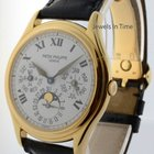 Patek Philippe Perpetual Calendar 18k Yellow Gold Mens Watch...