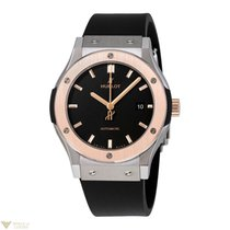 Hublot Classic Fusion Titanium 18K Rose Gold Rubber Men's...
