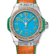 Hublot : 39mm Big Bang One Click Pop Art Steel Orange Watch