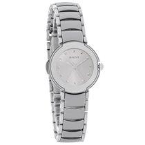 Rado La Coupole Ladies Gray Dial Platinum Ceramic Swiss Quartz...