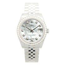 Rolex Lady Datejust 18k White Gold Diamond Steel Silver...