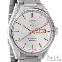 TAG Heuer Carrera Day-Date Automatic Watch WAR201D White Dial...