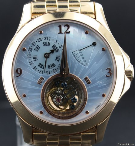 Cecil Purnell All yellow gold Tourbillon Power Reserve Limited edition