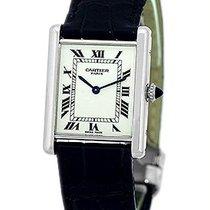 """Cartier Paris """"Classic Louis Tank"""" Strapwatch."""