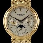 Patek Philippe 18k Y/G Silver Dial Perpetual Calendar M...