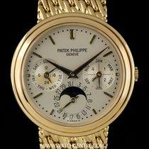 Patek Philippe 18k Y/G Silver Dial Perpetual Calendar Moonphas...