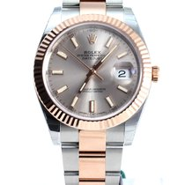 Rolex NEW MODEL Datejust Oyster Pink Gold 41mm sundust dial NEW