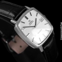 Omega 1975 Geneve Vintage Mens Automatic Watch with Quick-Setting