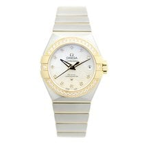 Omega Constellation 18k Gold Diamond White Automatic 123.25.27...
