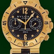Bulgari Diagono Scuba 38mm Automatic Chronograph 18k Yellow Gold