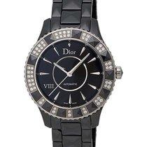 Dior VIII Black Ceramic and Stainless Steel Ladies Watch...