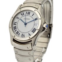 Cartier vintage_santos_round_33mm Santos Round - Automatic -...