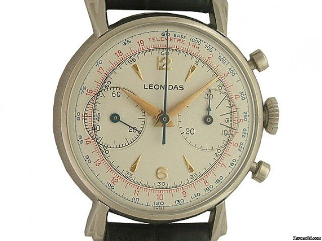 Leonidas Chronograph Handaufzug Landeron Vintage 35mm - Reserviert