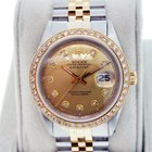 Rolex Datejust 1601 Diamond Dial and Bezel Two Tone Watch