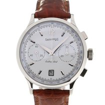 Eberhard & Co. Extra Fort 39 Vitree Silver Dial Chronograph