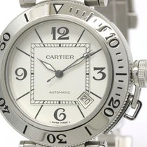 Cartier Polished Cartier Pasha Seatimer Steel Automatic Mens...