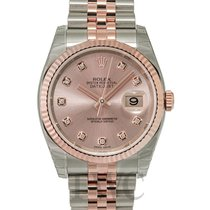 Rolex Datejust Pink 18k Rose Gold/Steel G Jubilee 36mm - 116231