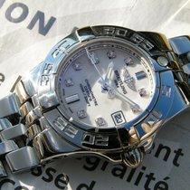 Breitling Galactic 30 Diamonds Dial Stahl A71340 Tresoruhr