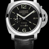 Panerai PAM00233 PAM 233 - 1950 GMT Iin Steel - on Black...