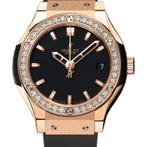 Hublot Classic Fusion Quartz King Gold Diamonds 33mm