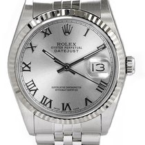 Rolex Men's Datejust Stainless Steel  Silver Roman Dial
