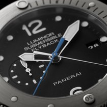 Panerai [NEW] PAM 614 Luminor Submersible Flyback Titanio