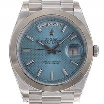 Rolex Day Date 40 950 Platin Automatik Präsident Armband...