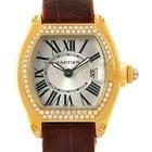 Cartier Roadster Ladies 18k Yellow Gold Diamond Watch We500160