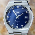 Longines Admiral Hf Swiss Made Stainless Steel 1970s Rare...