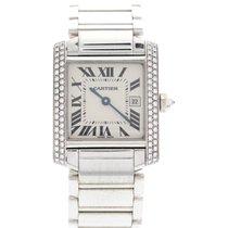 Cartier Midsize Cartier Tank Francaise 18K White Gold Diamond...