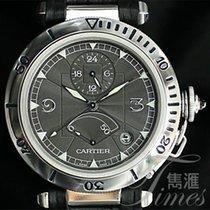 Cartier Pasha GMT Power Reserve Platinum Bezel 38mm W3105055