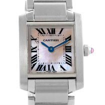 Cartier Tank Francaise Pink Mother Of Pearl Dial Watch W51028q3
