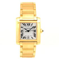 Cartier Pre-owned 18k Yellow Gold Cartier Large Tank Francaise...
