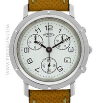 Hermès stainless steel Clipper Chronograph