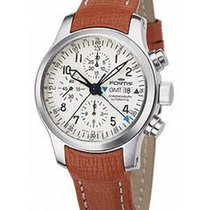 Fortis B-42 Flieger GMT Auto Chronograph - White Dial -...