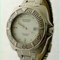 Technos Sky Diver Professional 1000M 6M12-EL 42X45mm White...