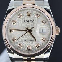 Rolex Datejust Jubilee Pink Gold/Steel Diamond Dial 36mm