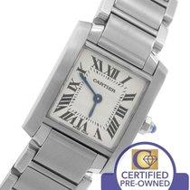 Cartier Tank Francaise Stainless Roman Swiss Quartz Watch 2384