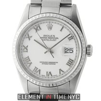 Rolex Datejust Stainless Steel 36mm White Roman Dial U Serial...