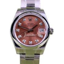 Rolex Datejust 178240 Ladies 31mm Midsize Diamond Pink Salmon...