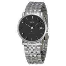 Longines Elegant Collection Auto Sunray Gray Dial Stainless...
