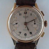 Heuer Chronograph Vintage Roségold 18K
