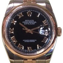 Rolex Datejust 36 116201-BKCADJ Black Concentric Arabic Rose...