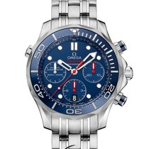 Omega Seamaster Diver 300M Co-Axial Chronograph 44mm Blue Dial R