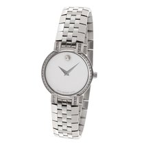 Movado Faceto Ladies Watch in Stainless Steel with Original...