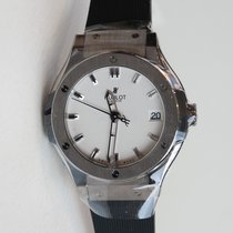 Hublot Classic Fusion 33mm in titanium with black rubber strap...